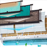 Фильтр воздушный внутреннего блока кондиционера Panasonic моделейCS-PA12GKD, CS-PA16GKD, CS-PC12GKD